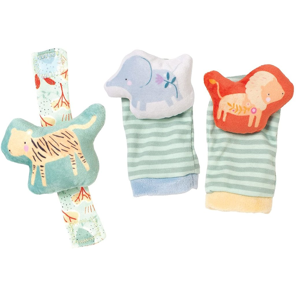 Manhattan Toy Manhattan Baby Safari Wrist Rattle & Foot Finders