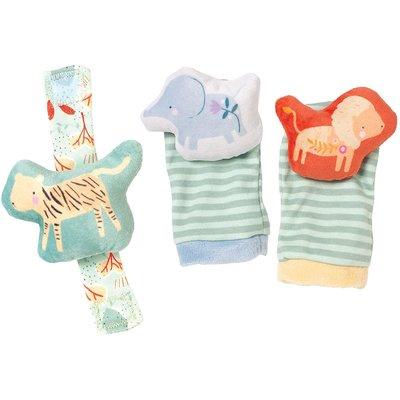 Manhattan Toy Manhattan Baby Safari Wrist Rattle & Foot Finders