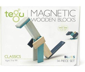 Tegu Magnetic Wooden Block 14pc Blues