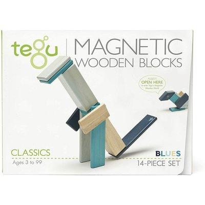 Tegu Tegu Magnetic Wooden Block 14pc Blue