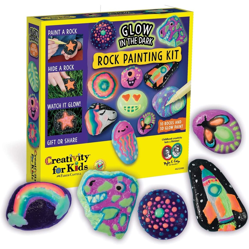 Creativity For Kids Craft Glow In The Dark Rock Painting Kit Minds Alive Toys Crafts Books