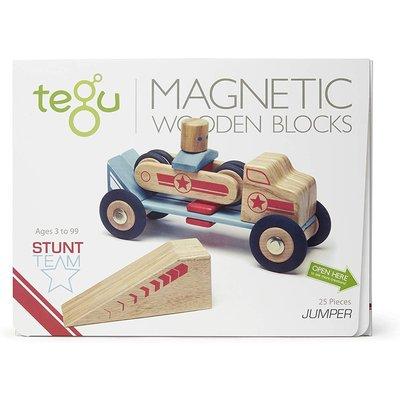 Tegu Tegu Magnetic Wooden Blocks Stunt Jumper