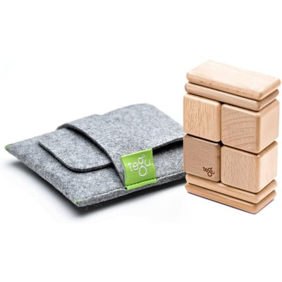 Tegu Tegu Magnetic Wooden Blocks Pouch 8pc Natural