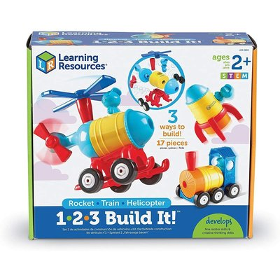 Learning Resources Learning Resources 1-2-3 Build It! Rocket Plane Helicopter