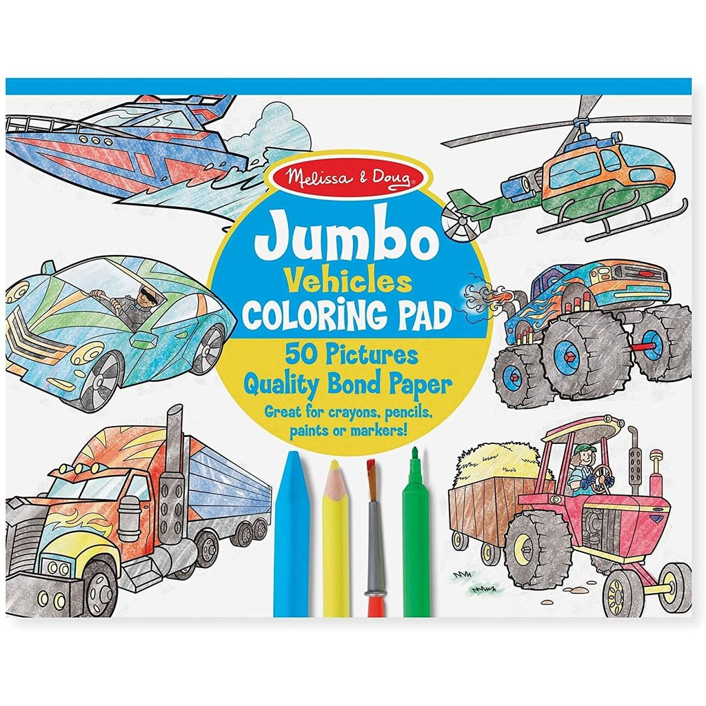 Melissa & Doug Coloring Pad Vehciles - Minds Alive! Toys ...