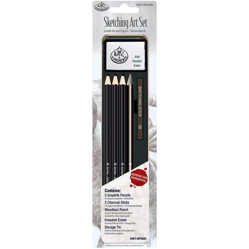 Royal & Langnickel Mini Tin Sketching Pencils