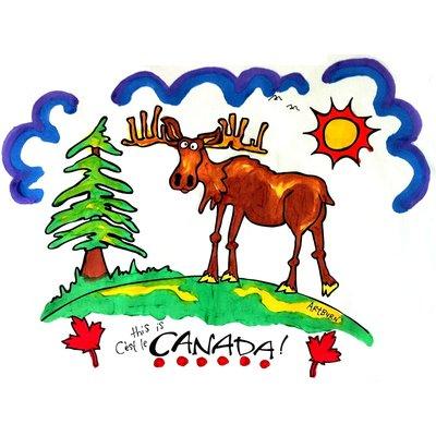Artburn Pillowcase This is Canada! Moose