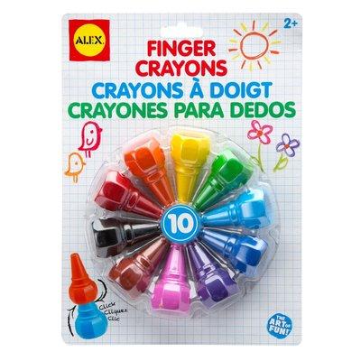 Alex Alex Finger Crayons 10pcs