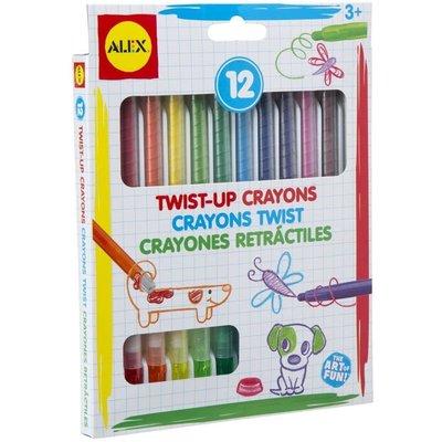Alex Alex Twist-Up Crayons 12pcs
