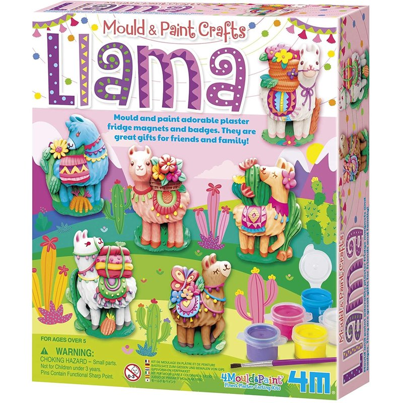 4M 4M Craft Mould and Paint Llamas