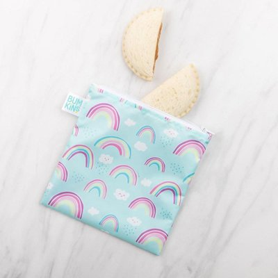 Bumkins Bumkins Large Reusable Snack Bags Rainbows
