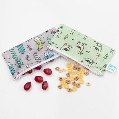 Bumkins Bumkins Small Reusable Snack Bags 2pk Llama