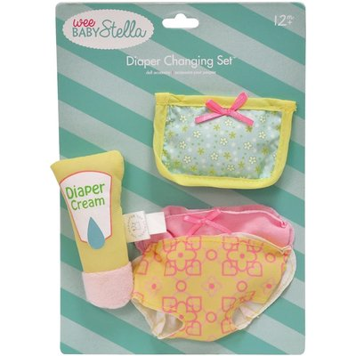 Baby Stella Doll Wee Baby Stella Diaper Changing Set