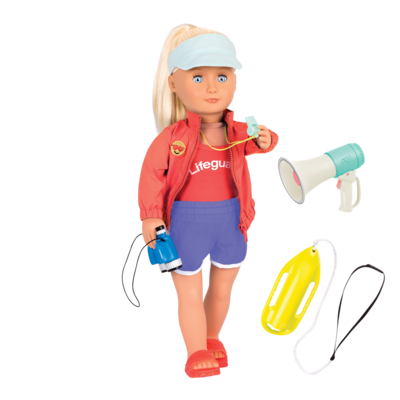 "Our Generation Our Generation 18"" Deluxe Doll: Seabrook Lifegaurd"