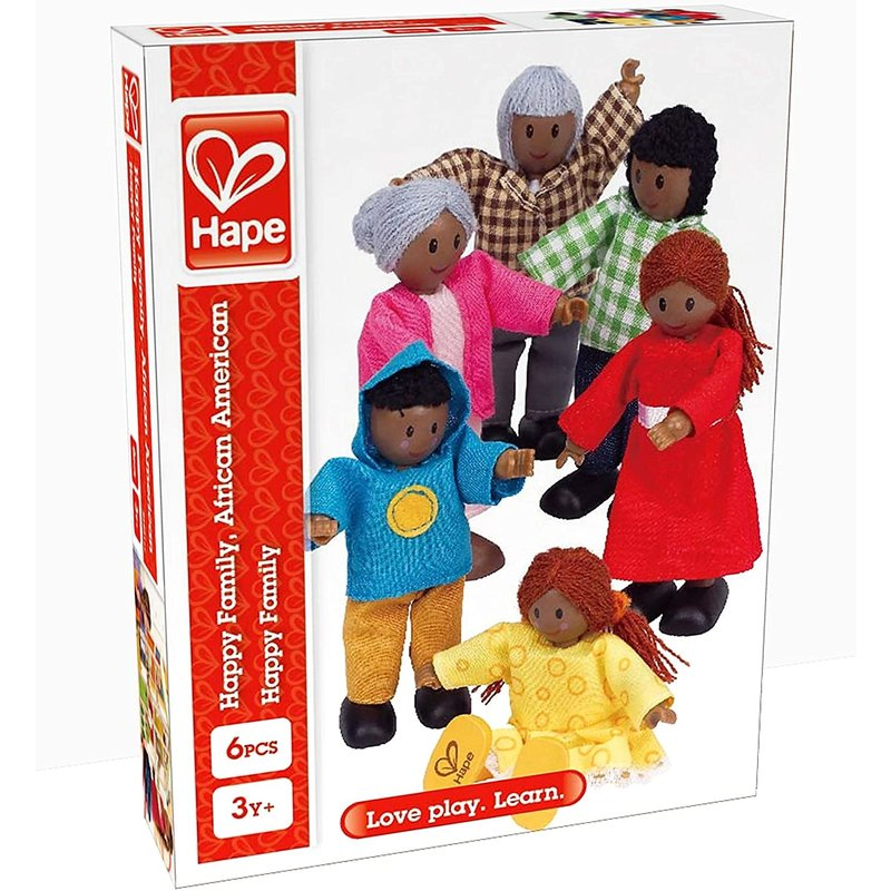 Hape Toys Hape Doll Happy Family African American