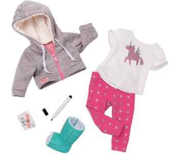 Our Generation Doll Deluxe Outfit: Get Well Soon