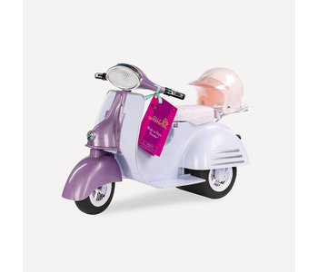 Our Generation Doll Accessory Set: Ride in Style Scooter Pink & Ivory