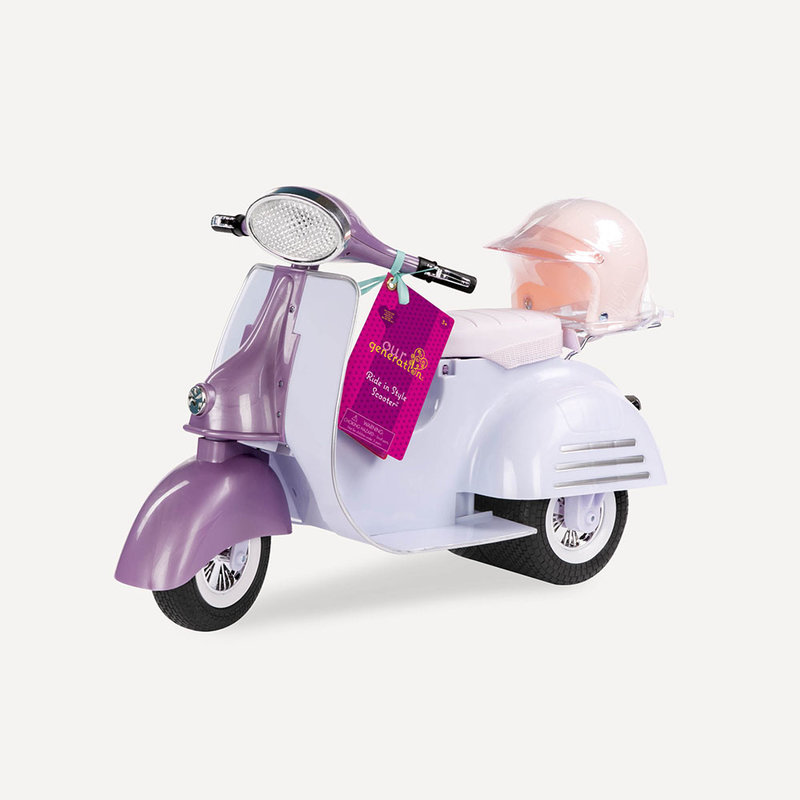 Our Generation Our Generation Doll Accessory Set: Ride in Style Scooter Pink & Ivory