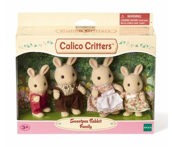 Calico Critters Family Sweet Pea Rabbit Family