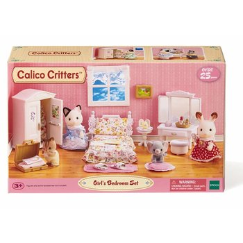 Calico Critters Bedroom Set | Calico Critters Room Floral Bedroom Set Minds Alive Toys Crafts Books