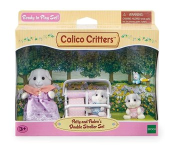 Calico Critters Set Patty & Paden's Double Stroller