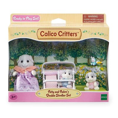 Calico Critters Calico Critters Set Patty & Paden's Double Stroller