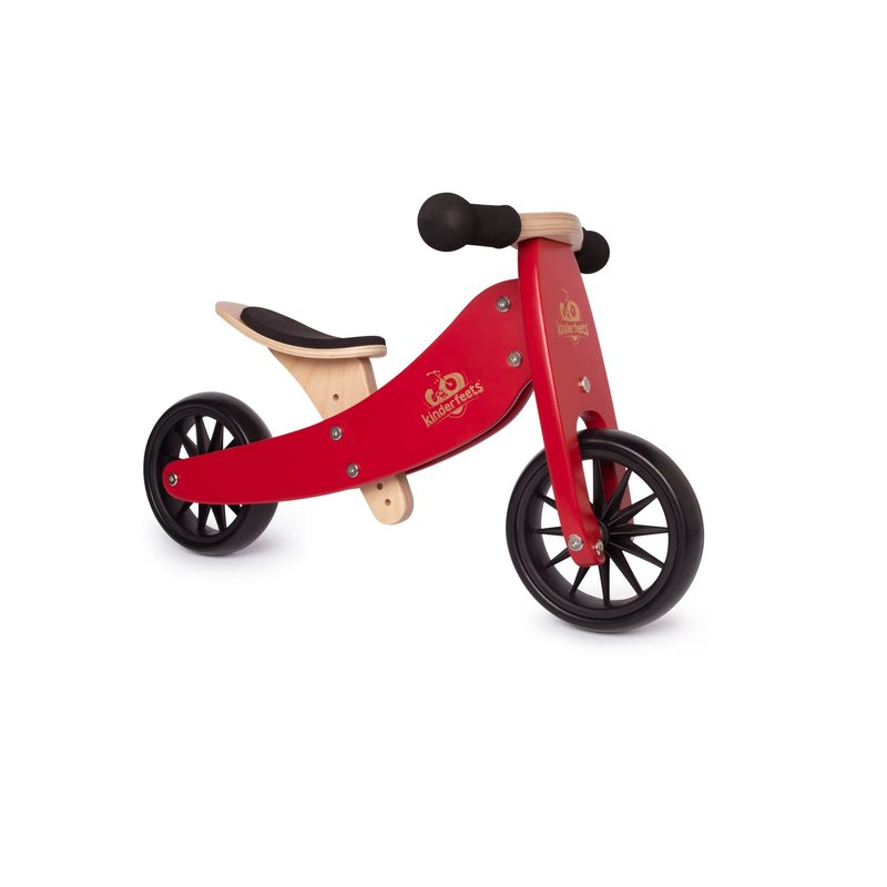 Kinderfeets Kinderfeets Tiny Tots Convertible Balance Bike Cherry Red
