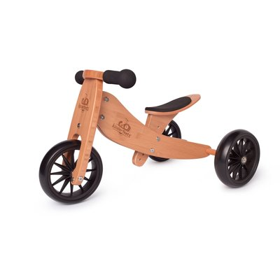 Kinderfeets Tiny Tots Convertible Balance Bike Bamboo