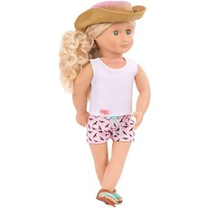 "Our Generation Our Generation 18"" Deluxe Doll: Surfer Coral"