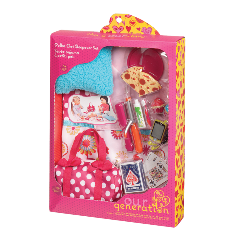 Our Generation Our Generation Doll Accessory Set: Polka Dot Sleepover