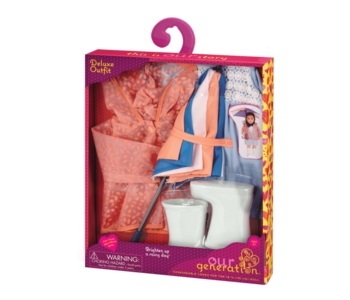 Our Generation Doll Outfit Brighten up a Rainy Day (doll sold separately)