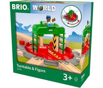 Brio World Train Turntable & Figure