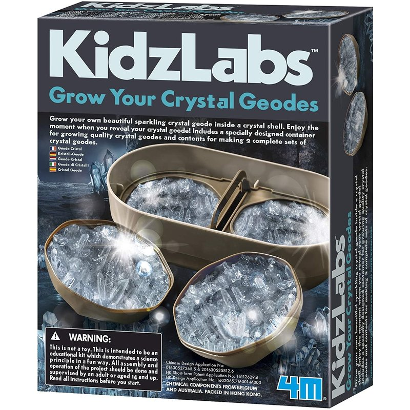 4M 4M Kidzlab Crystal Geode Growing Kit