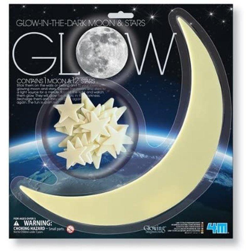 4M 4M Glow Adhesive Moon & Stars