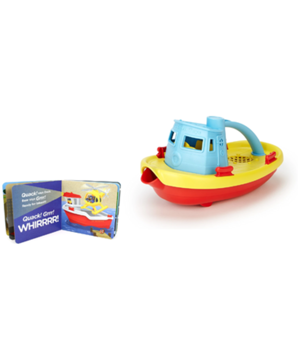 Green Toys Tugboat & Board Book