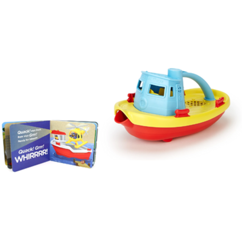 Green Toys Green Toys Tugboat & Board Book