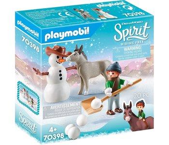 Playmobil Spirit Snowtime with Snips and Senor Carrot