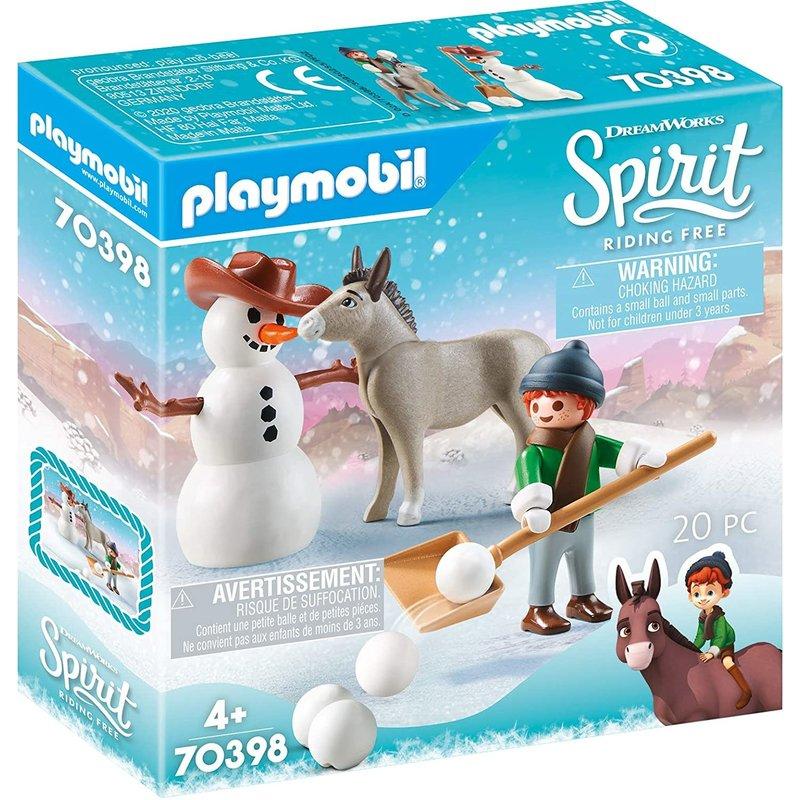 Playmobil Playmobil Spirit Snowtime with Snips and Senor Carrot