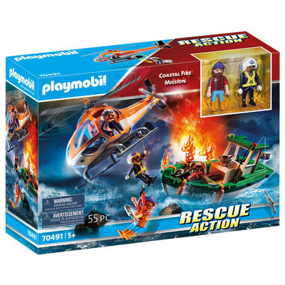 Playmobil Playmobil Action Rescue Coastal Fire Mission