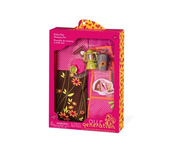 Our Generation Doll Accessory: Polka Dot Camping Set