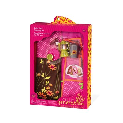 Our Generation Our Generation Doll Accessory: Polka Dot Camping Set