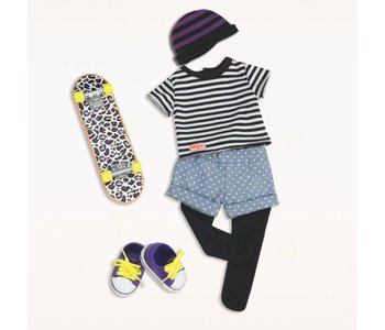 Our Generation Doll Outfit: That's How I Roll Skater