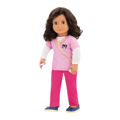 "Our Generation Our Generation 18"" Deluxe Doll: Paloma Professional Vet"