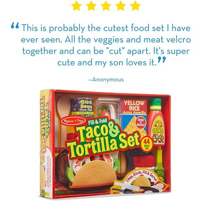 Melissa & Doug Melissa & Doug Play Food Taco & Tortilla Set