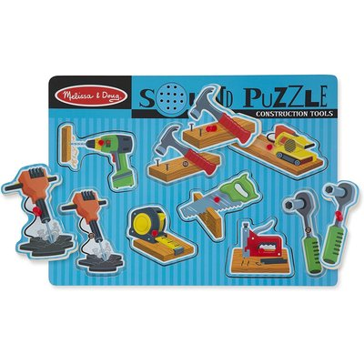 Melissa & Doug Melissa & Doug Sound Puzzle Construction Tools