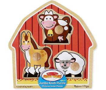 Melissa & Doug Knob Puzzle: Barnyard Animals