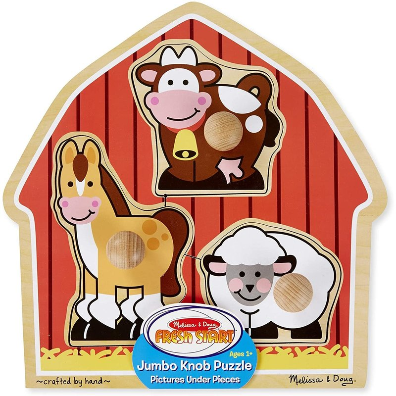 Melissa & Doug Melissa & Doug Knob Puzzle: Barnyard Animals