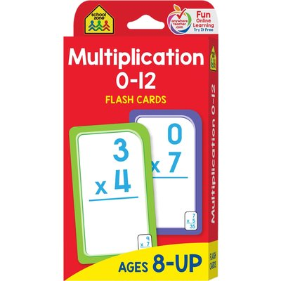 School Zone Flash Cards Multiplicatoin 0-12