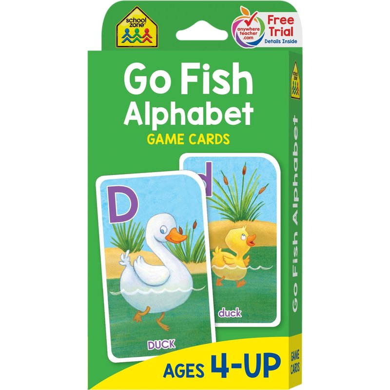 School Zone Flash Cards Go Fish Alphabet