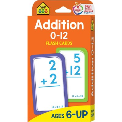 School Zone Flash Cards Addition 0-12